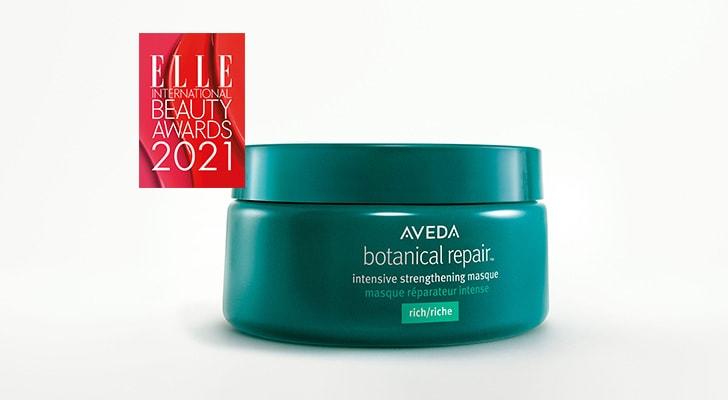 Winner of Elle International Beauty awards 2021 - botanical repair intensive strengthening treatment masque rich
